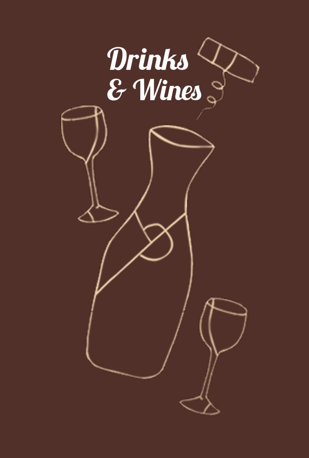 Drinks and Wines menu selector