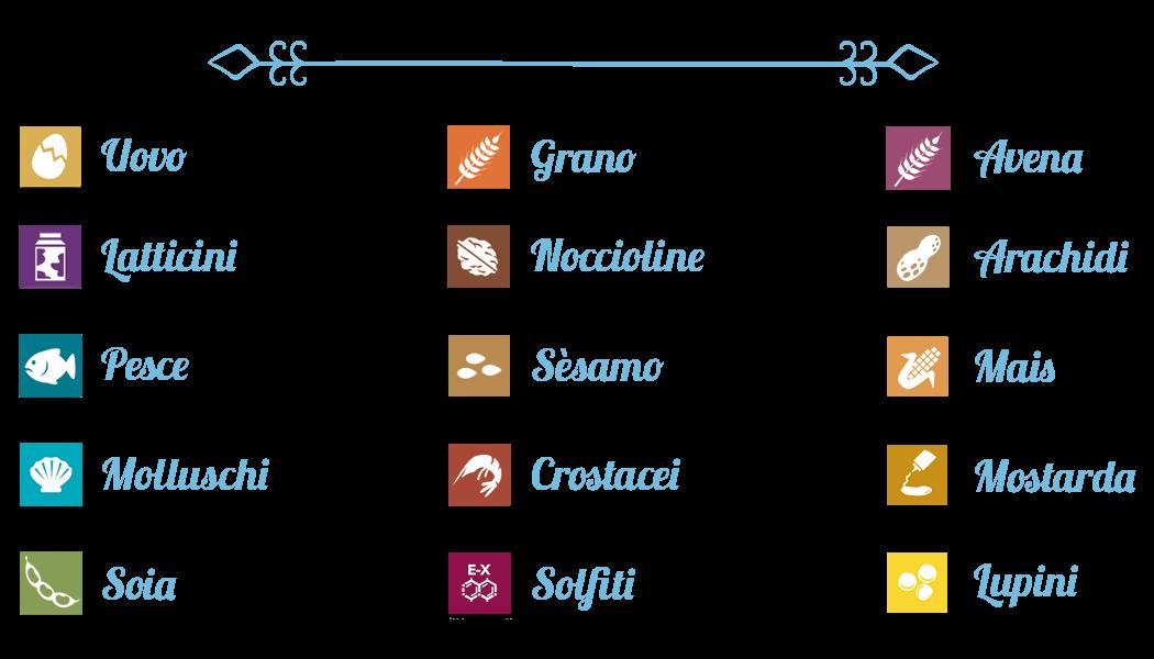 allergeni menu senza glutine