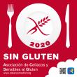 Sticker certificado restaurante sin gluten 2020